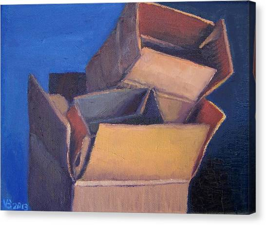 Little Boxes-red Yellow Blue Canvas Print