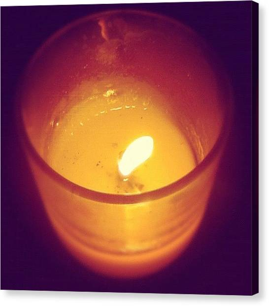 Flames Canvas Print - Little Candle To Warm Up The Room by Alannah Pummell