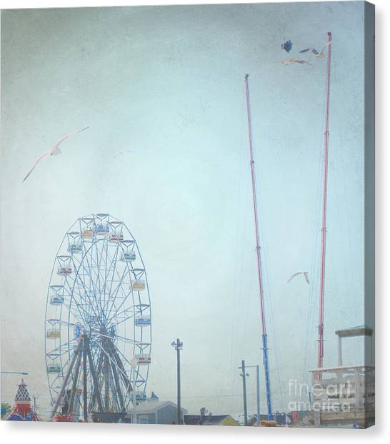 Little Carnival Town Canvas Print by Sharon Kalstek-Coty