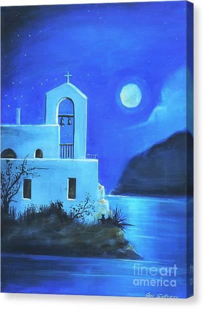 Little Church By The Sea Canvas Print