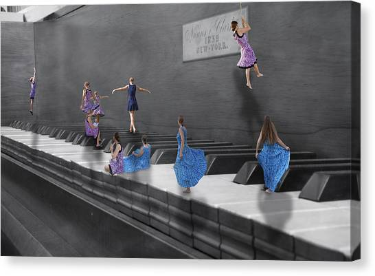 Nuns Canvas Print - Little Composers I by Betsy Knapp