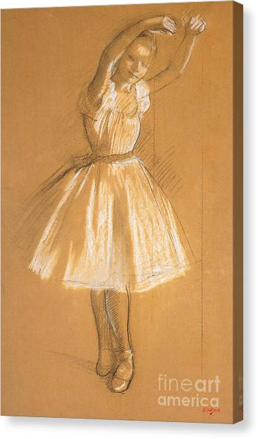 Ballerina Canvas Print - Little Dancer by Edgar Degas