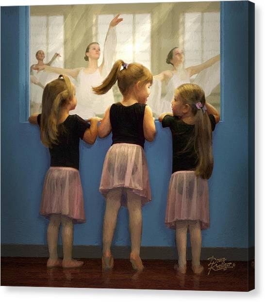 Little Dancing Dreamers Canvas Print