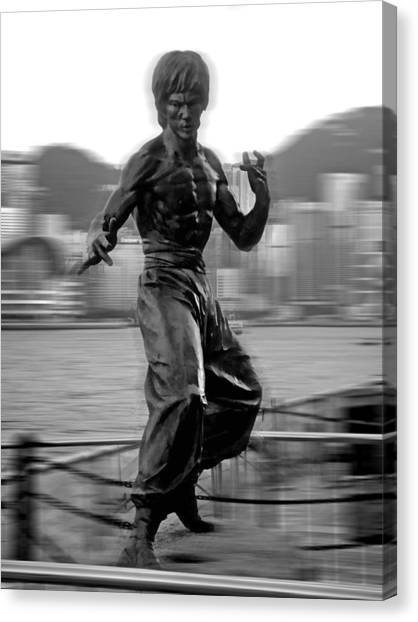 Bruce Lee Canvas Print - Little Dragon by Roberto Alamino