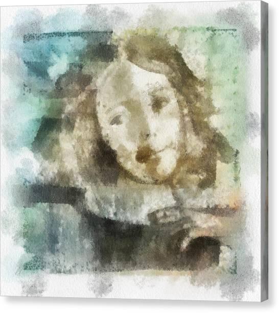 Little Girl Canvas Print by Jennifer Woodworth