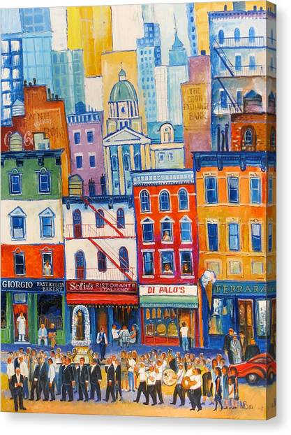 Little Italy New York Canvas Print