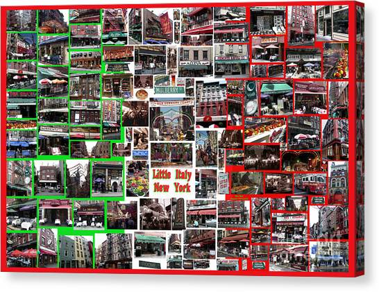 Little Italy Photo Collage Canvas Print