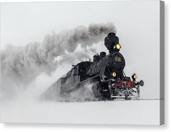 Railroads Canvas Print - Little-jumbo by