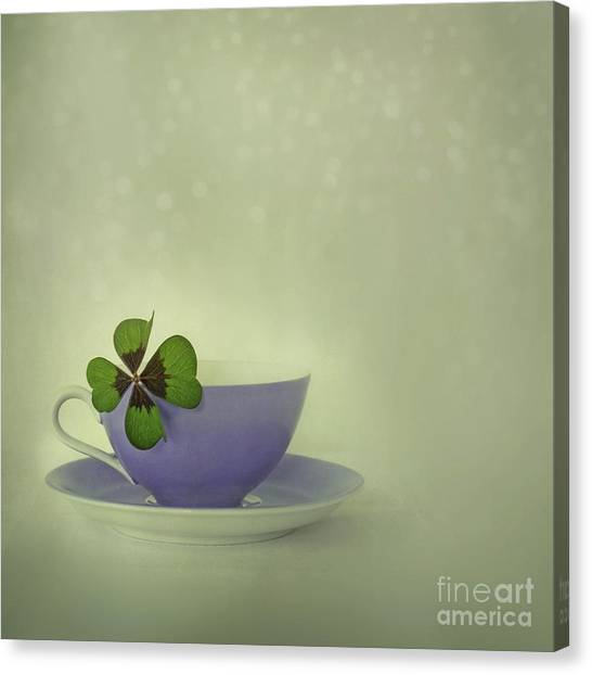 Tea Leaves Canvas Print - Little Luck by Priska Wettstein