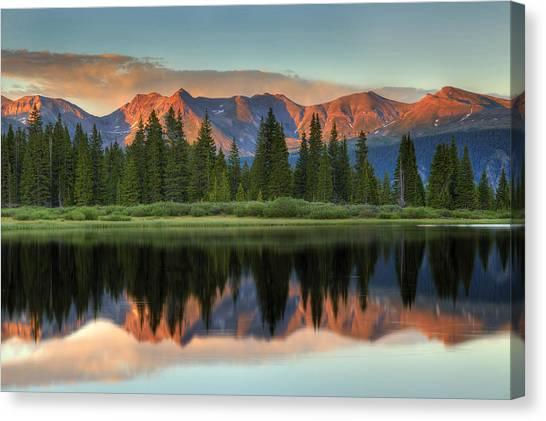 Little Molas Lake Sunset 2 Canvas Print