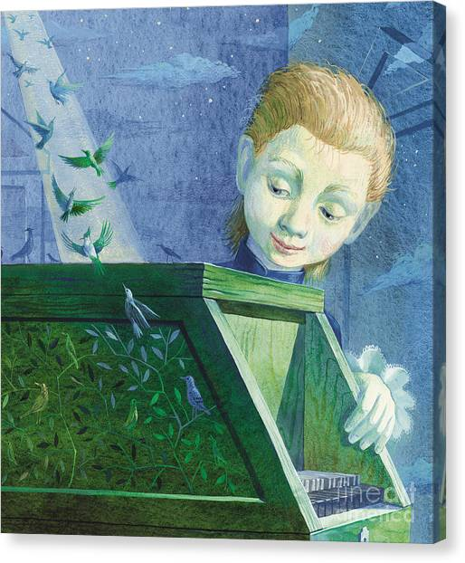 Harpsichords Canvas Print - Little Mozart by Victoria Fomina