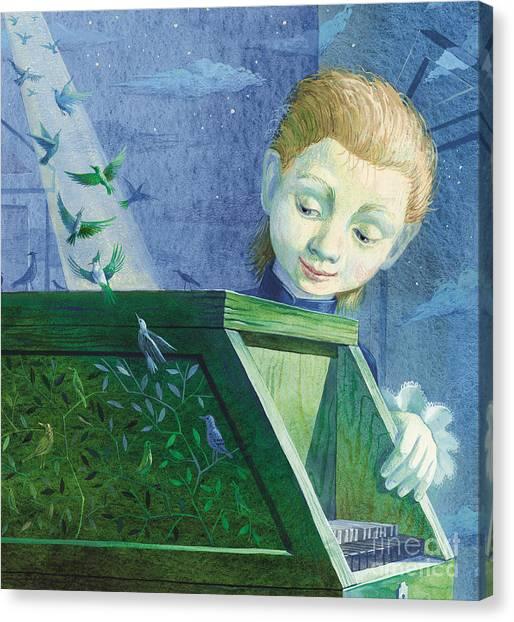 Harpsichords Canvas Print - Little Mozart by Victoria Fomina