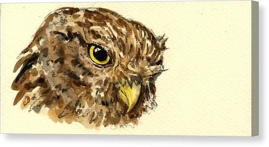 Mice Canvas Print - Little Owl by Juan  Bosco