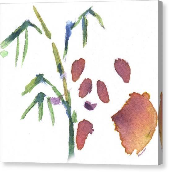 Little Panda Canvas Print