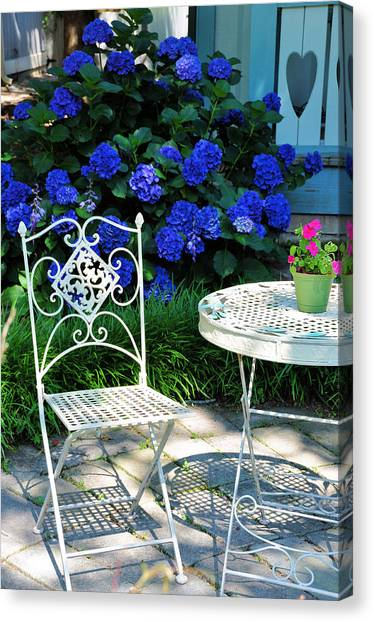 Little Patio Chair Canvas Print