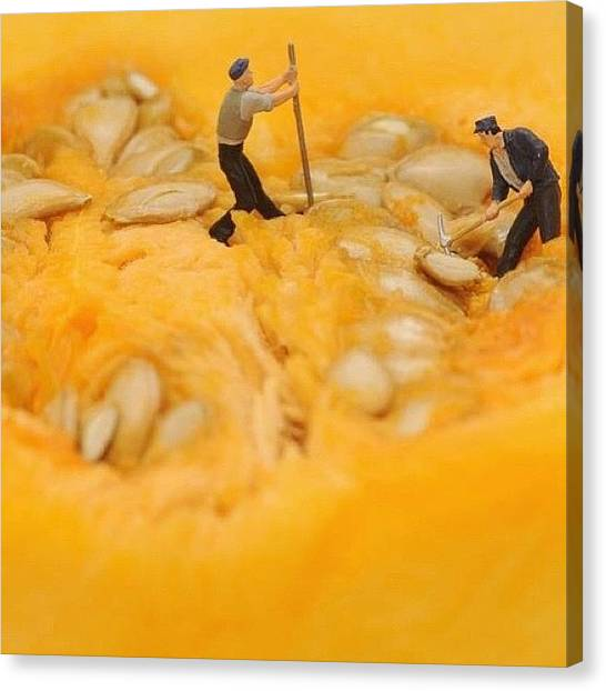 Installation Art Canvas Print - #little #people Around #working by Julio  Kamara