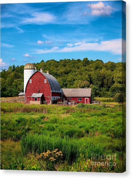 Little Red Barn Canvas Print
