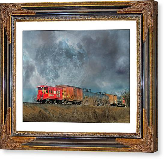 Caboose Canvas Print - Little Red Caboose  by Betsy Knapp