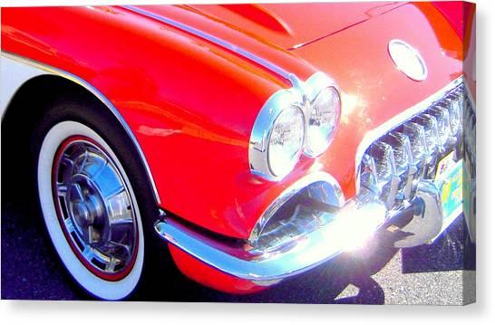 Little Red Corvette Canvas Print