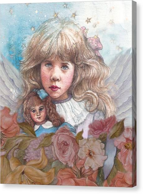 Little Rose Angel Canvas Print