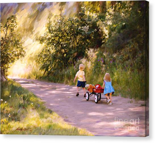 Little Run Aways Canvas Print