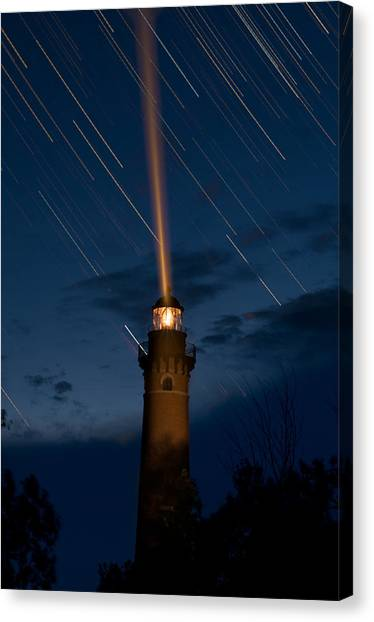 Lighthouses Canvas Print - Little Sable Lighthouse by Steve Gadomski