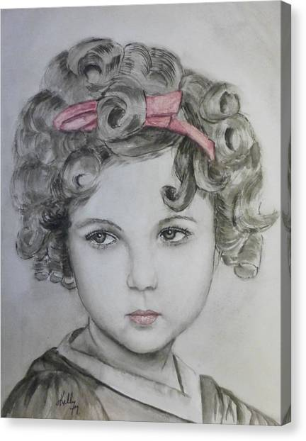 Little Shirley Temple Canvas Print