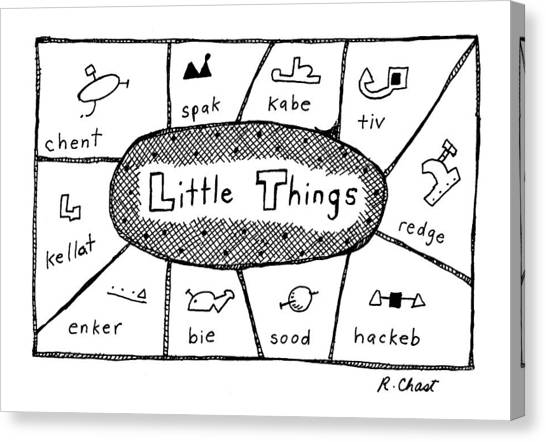 Etc Canvas Print - 'little Things' by Roz Chast