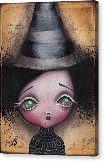 Witches Canvas Print - Little Witch by  Abril Andrade Griffith