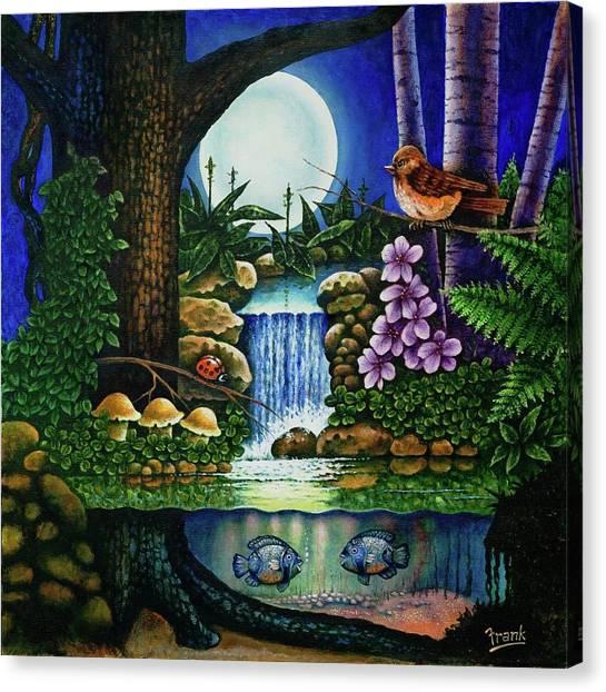 Little World Chapter Full Moon Canvas Print