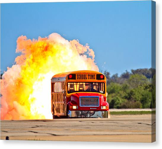Late For School Canvas Print