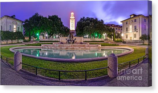 Texas State University Texas State Canvas Print - Littlefield Fountain At The University Of Texas In Austin Atx 512 by Silvio Ligutti