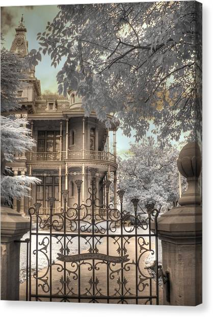 The Haunted House Canvas Print - Littlefield Home by Jane Linders