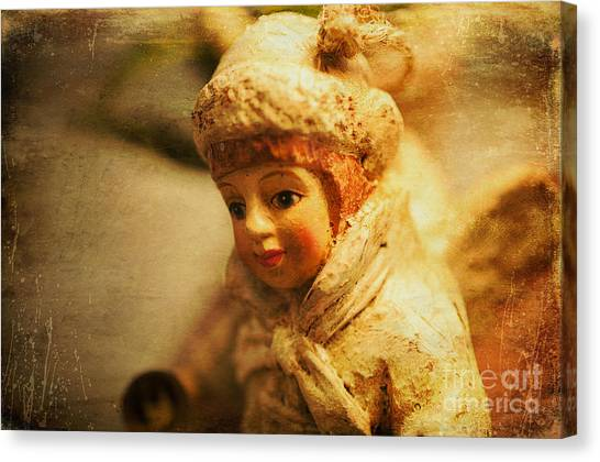 Littlest Angel Canvas Print by Terry Rowe
