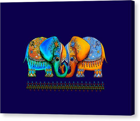 Baby Taylors Canvas Print - Littlest Elephant Love Links by Karin Taylor