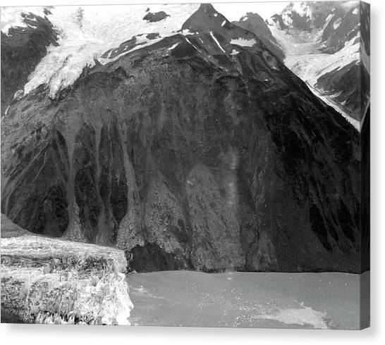 Tsunamis Canvas Print - Lituya Bay 1958 Tsunami Landslide by Us Geological Survey/science Photo Library
