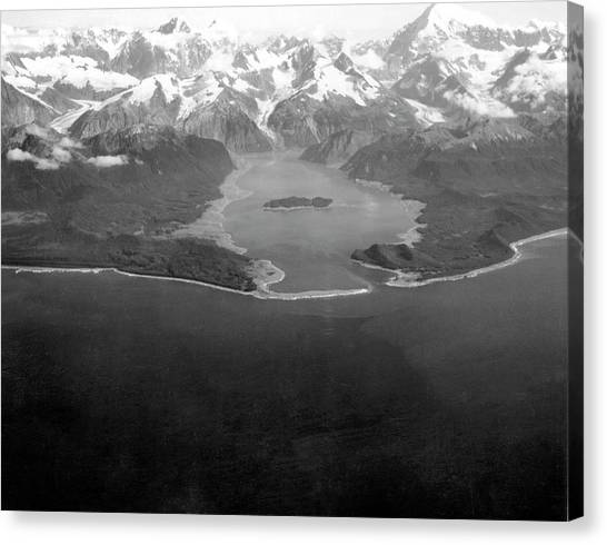 Tsunamis Canvas Print - Lituya Bay After 1958 Tsunami by Us Geological Survey/science Photo Library