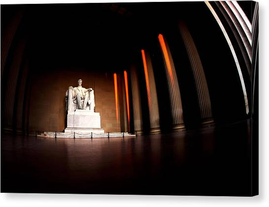 Lincoln Memorial Canvas Print - Live By The Light by Mitch Cat