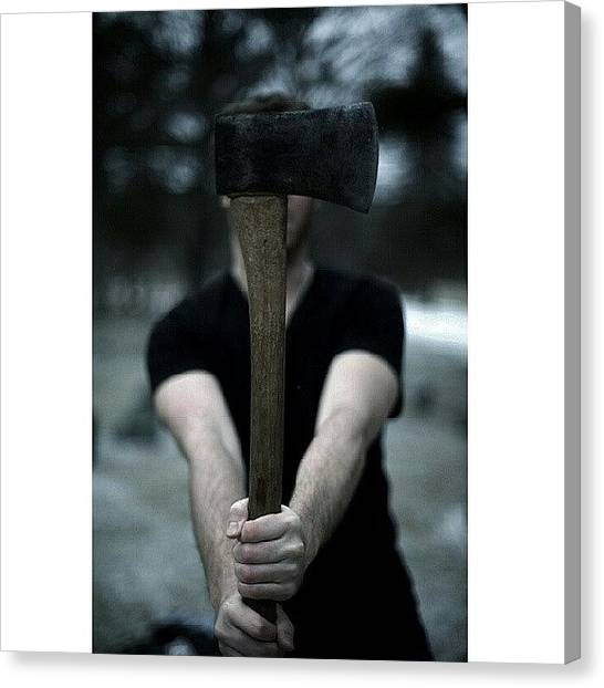 Axes Canvas Print - Live For Today, Hope For Tomorrow by Kyle Baird
