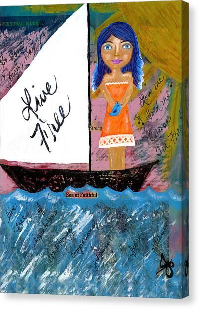 Ocean Sunrises Canvas Print - Live Free by Julia Ostara From Thrive True dot com