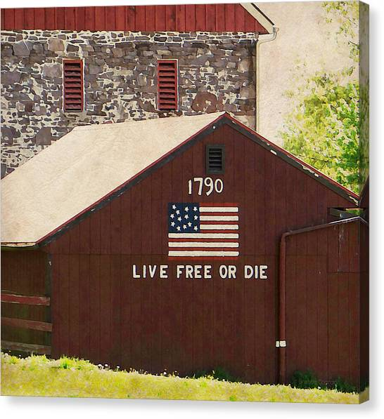 Live Free Or Die Canvas Print