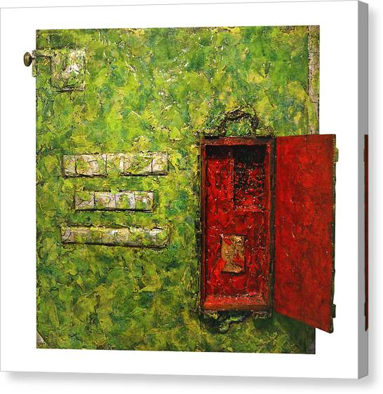 Live Green Box Canvas Print
