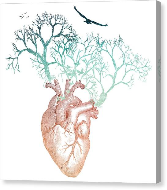 Hearts Canvas Print - Live by Heather Applegate
