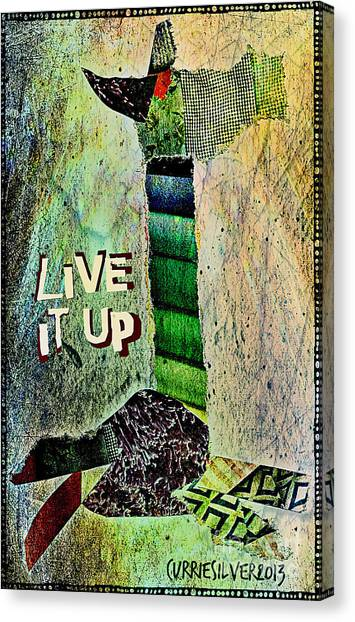 Live It Up Canvas Print by Currie Silver