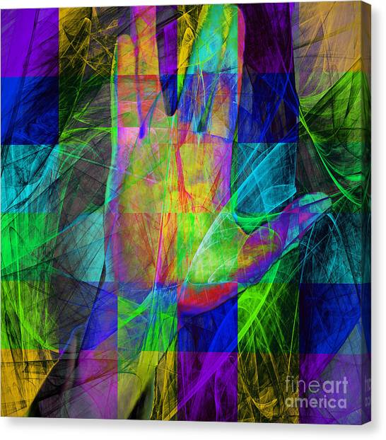 Spock Canvas Print - Live Long And Prosper 20150302v2 Color Squares Sq by Wingsdomain Art and Photography