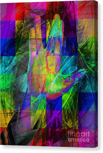Spock Canvas Print - Live Long And Prosper 20150302v2 Color Squares by Wingsdomain Art and Photography