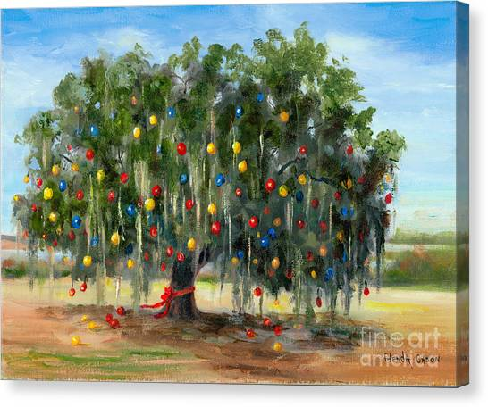 Live Oak Christmas Canvas Print