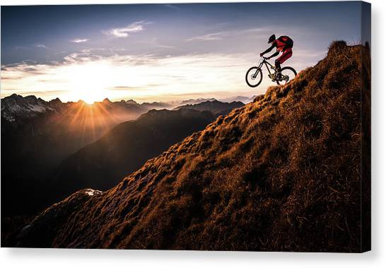 Mountain Sunsets Canvas Print - Live The Adventure by Sandi Bertoncelj
