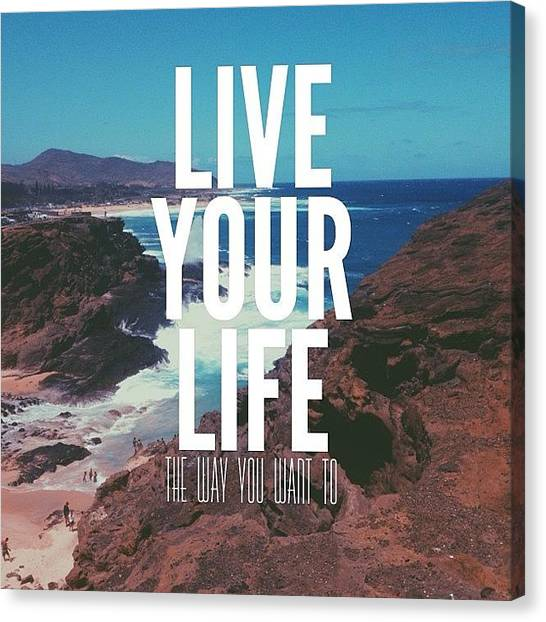 Sea Turtles Canvas Print - Live Your Life by Brandon Weller