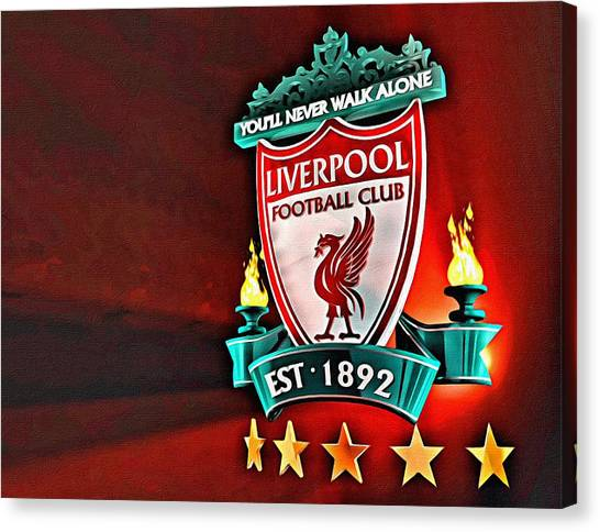 Liverpool Fc Canvas Print - Liverpool Football Club Poster by Florian Rodarte